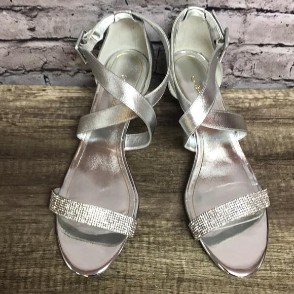 5cd785bc58 Caparros Shoes | Womens Silver Sandals Rhinestones Sz 10 | Poshmark